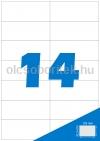 Etikett címke A4 (105 x 42,3 mm) 14 db etikett címke/ív  100 db ív/csomag