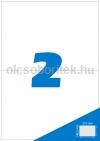 Etikett címke A4 (210 x 148,5 mm) 2 db etikett címke/ív  100 db ív/csomag