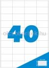 Etikett címke A4 (52,5 x 29,7 mm) 40 db etikett címke/ív  100 db ív/csomag