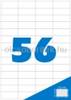 Etikett címke A4 (52,5 x 21,2 mm) 56 db etikett címke/ív  100 db ív/csomag